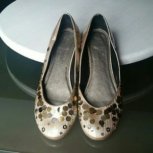 Ladies Shoedazzle Sequin Flats
